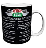 Friends Things I Learned (Central Perk Cafe Menu) TV Television Romantic Sitcom Show Ceramic Gift Coffee (Tea, Cocoa) Mug, 11 Ounce
