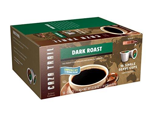 Caza Trail Coffee, Dark Roast, 56 Single Serve Cups,22.50 Oz (Pods 56)