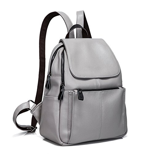 QXMEI Sac Backpack Cuir Dos Lightgray Fashion Nouveau Lychee En à rCxZrnF