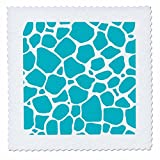 3dRose Anne Marie Baugh - Animal Print - Light Blue Giraffe Print - 22x22 inch quilt square (qs_264947_9)
