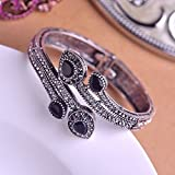 Boho Women Alloy Bracelet Rhinestone Bangle Charm Wristband Cuff Fashion Gift