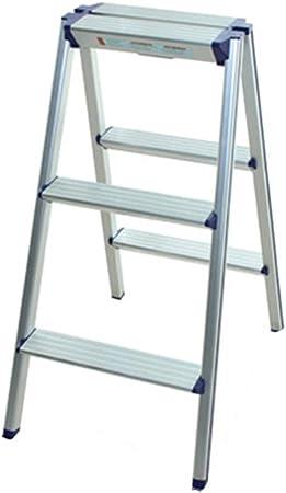 QFF Las dos caras Escaleras de metal de tres pasos de escalera Ultra Ligero bilateral Ingeniería Escalera Aula/Oficina/Hotel Las escaleras de tijera doblez (Size : 42.5 * 57.5 * 78.5cm): Amazon.es: Bricolaje
