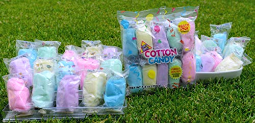 choice of color 20 ct Cotton Candy Party Favors flavor