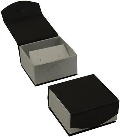 Magnético serie caja de pendientes negro: Amazon.es: Joyería