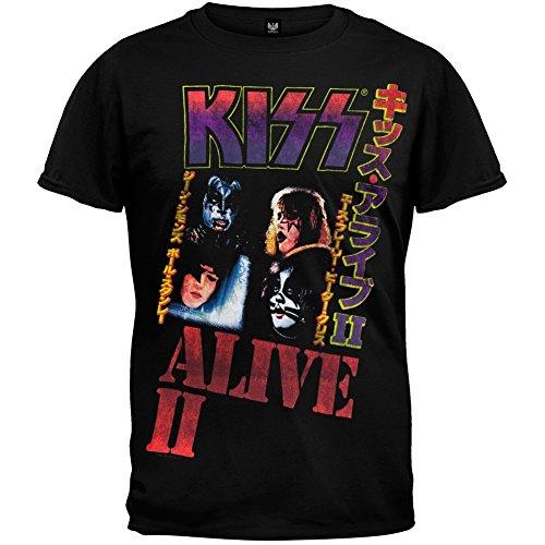 Kiss - Japan Alive II Soft T-Shirt - (Sandwiched Fan)