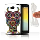 STUFF4 Gel TPU Phone Case / Cover for LG F60/D390N/D392 / Owl Design / Ornamental Animals Collection