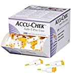 ACCUCHEK Safe-T Pro UNO 200 Lancets (Single Use Disposal Most Hygenic Lancets) by Best Friend Shop.