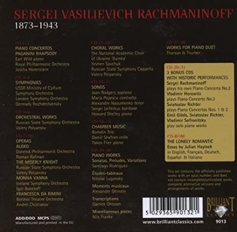 Rachmaninoff Edition Gesamtwerke Emil Gilels Garrick Ohlsson