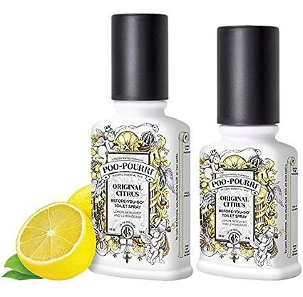 Poo-Pourri Preventive Bathroom Odor Spray 2-Piece Set, Includes 2-Ounce and  4-Ounce Bottle, Original