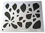 Cabtopia -- Lapidary Jewelry Design Template Stencil ''Flare''