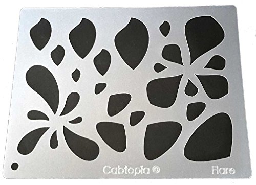 Cabtopia -- Lapidary Jewelry Design Template Stencil ''Flare'' by Cabtopia