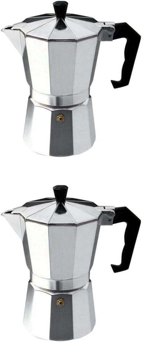 Fenteer 2 Piezas Cafetera Italiana,Cafetera Espressos de Acero ...