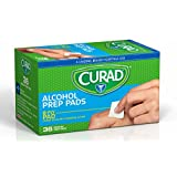 Curad Sterile 2-Ply Alcohol Swabs Prep Pads, Medium Size (Case of 1,080)