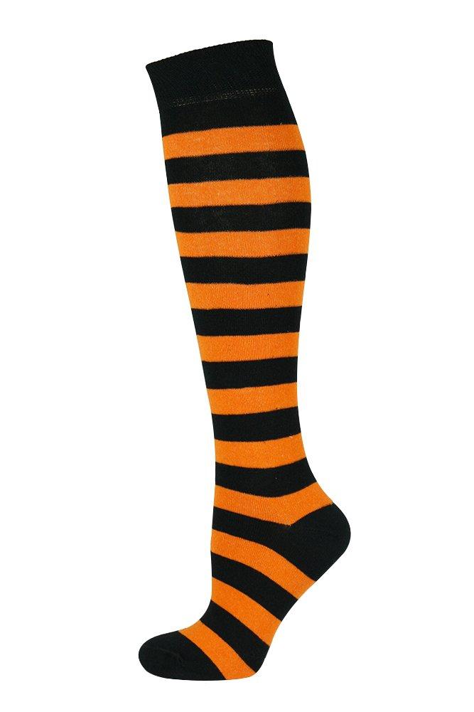 Mysocks® unisexo Rodilla alta calcetines largos raya Algodón penteado extra fino product image