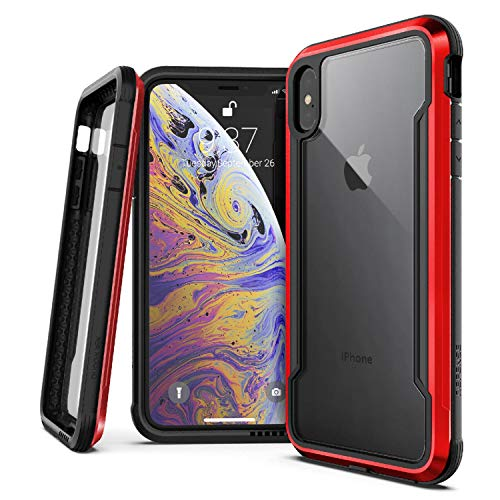 (X-Doria Defense Shield Series, iPhone Xs Max - Military Grade Drop Tested, Anodized Aluminum, TPU, and Polycarbonate Protective Case for Apple iPhone Xs Max, 6.5 Inch Screen)