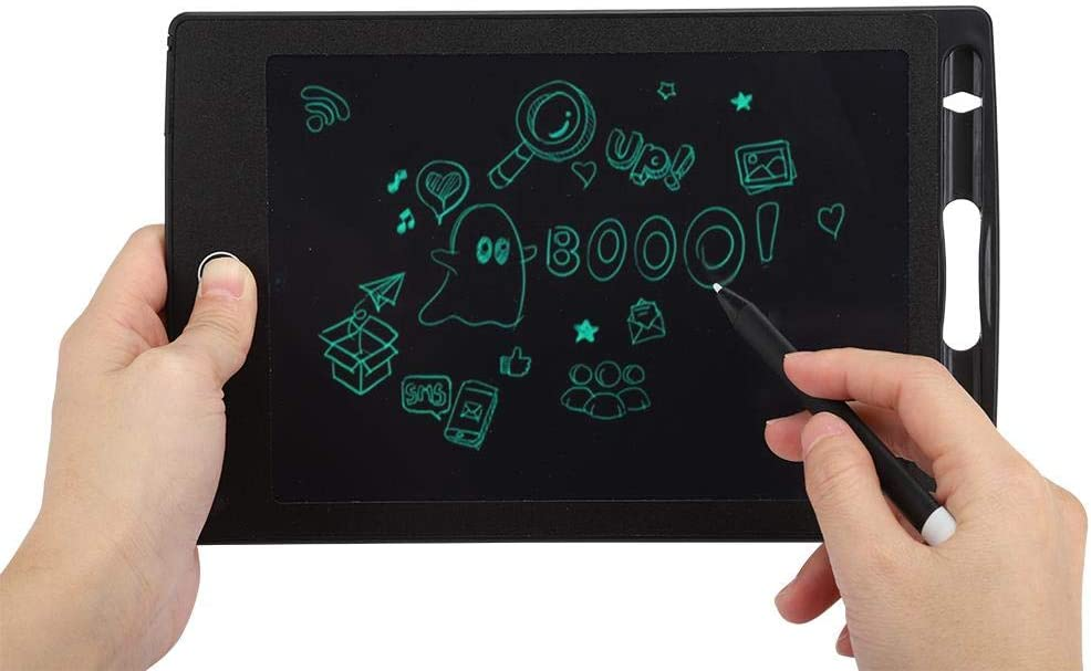 8.5-Inch Writing Board Wendry LCD Writing Tablet Drawing Board Electronic Notepad Ultra-Thin Hand-Painted Table for Partial Erasure Black