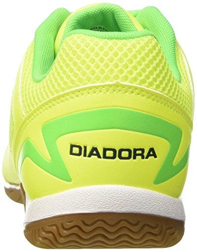 Diadora Quinto5 Id, Botas de Fútbol para Hombre GIALLO FL/VERDE FLU/BLU ESTATE