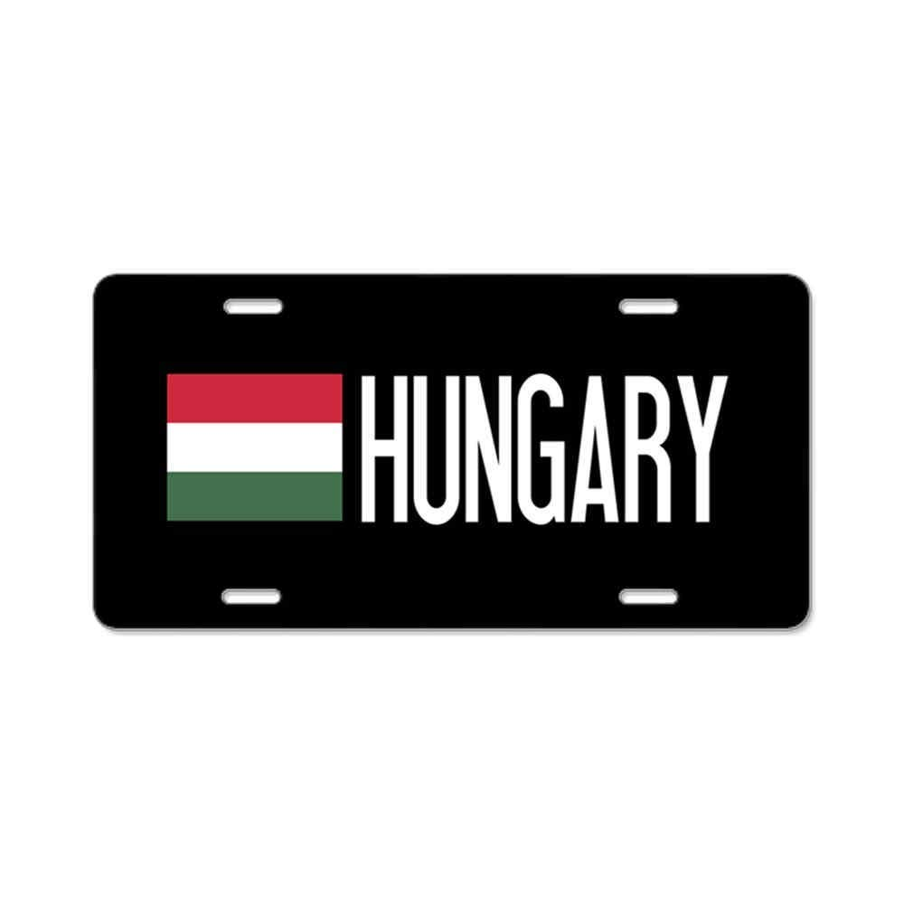 6x12 Inches Hungary Hungarian Flag Gifts Custom Personalized Aluminum Metal Novelty License Plate Cover Front Auto Car Accessories Vanity Tag