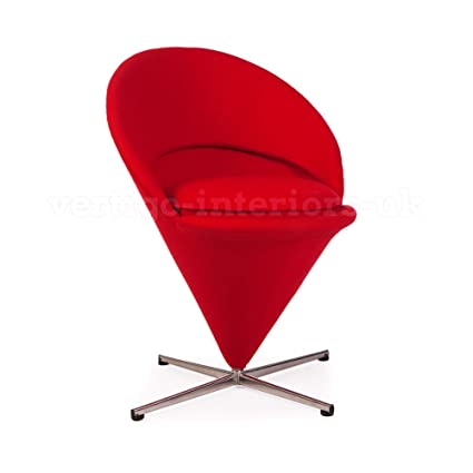 Merveilleux Panton Inspired Cone Chair   Red