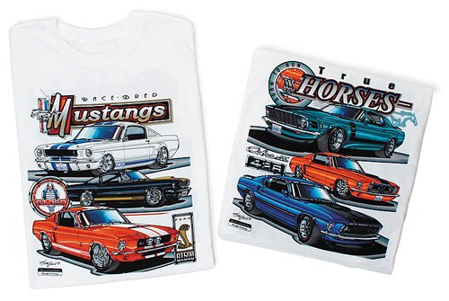 Ford Mustang RACEBRED Classic Car Adult T-shirt, Small