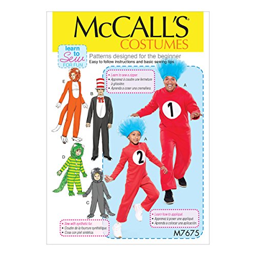 McCall's Patterns M7675ADT Various Jumpsuit Family Halloween Costume Sewing Patterns Sizes 3-8 ()