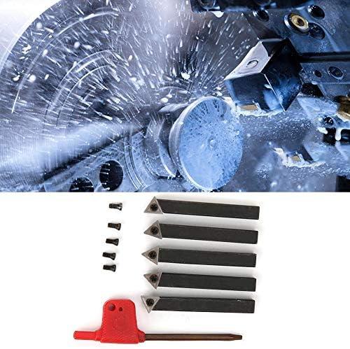 Hartmetall-Drehwerkzeug, 5-teiliges 1/4-Zoll-Drehwerkzeugset für Hartmetall-Bearbeitungsdrehmaschinen Schneidwerkzeuge zum Schneiden von Oberflächen und Drehen