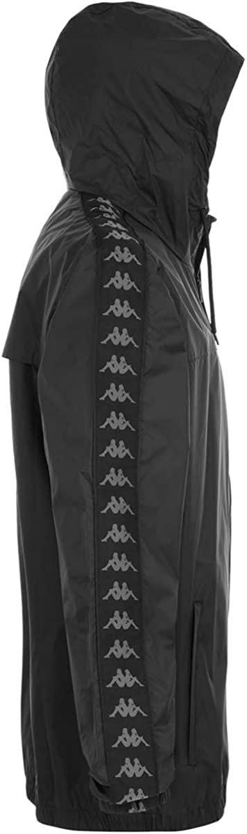 Kappa Mens 222 Dawson Banda Jacket Black