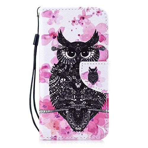 The Grafu Galaxy S6 Edge Case, Scratch Resistant Ultra Thin Leather Wallet Protective Cover with Card Slot for Samsung Galaxy S6 Edge Smartphone, Owl