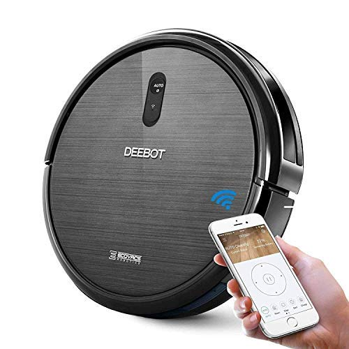 (ECOVACS DEEBOT N79 Robotic Vacuum Cleaner with Strong Suction, for Low-pile Carpet, Hard floor, Wi-Fi Connected (Renewed) …)