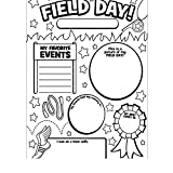 Bargain World Color Your Own All About My Field Day Posters (With Sticky Notes)