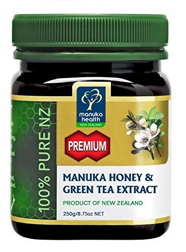 Manuka Health - Premium Manuka Honey with Green Tea Extract, Product of New Zealand, 8.8 oz (250 g) by Manuka Health
