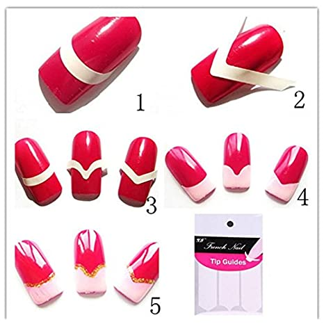 Buy Nail Art Fashion Diy Guides Stickers For Women Nail Stickers