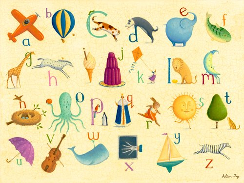 Oopsy Daisy Crackle Alphabet by Alison Jay Canvas Wall Art, 24 by 18-Inch (Crackle Studio)
