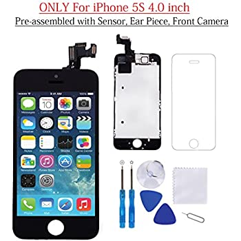 iphone 5s black screen icracked iphone 5 screen replacement kit 14749