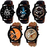 Xforia Boys Watches Multi Color Dial Watch for Men Combo Pack of 5 (RG-FLX-20)
