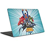 Skinit DC Comics Justice League MacBook Pro 15-inch with Touch Bar (2016-18) Skin - Justice League Team Power Up Blue Design - Ultra Thin, Lightweight Vinyl Decal Protection