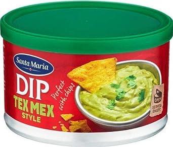 Santa Maria Dip Tex Mex Salsa con sabor a guacamole Preparación mexicana con aguacate y ají - 1 x 250 Gramos