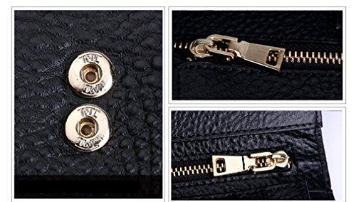 Longzibog Dual verstellbare Schultergurte und Hängeschlaufenband 2016 Neue geldbörse damen lang Gold BR0LPTrU