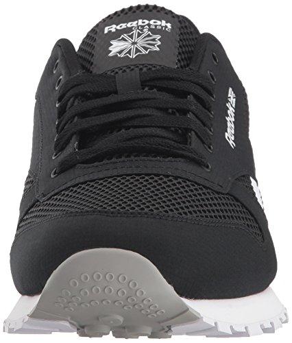 Sneaker White Men's Reebok Grey Stark Leather Black Classic HvH6Anf
