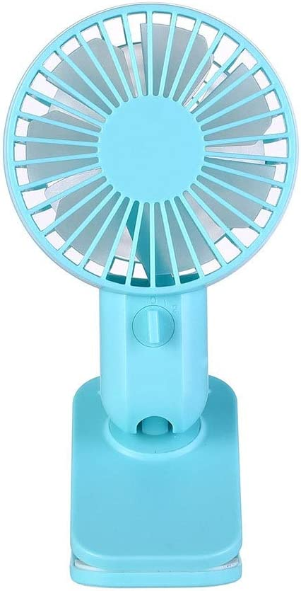 Mini Portable Fan Operated Clip On Mini Desk Fan USB Powered 120/° Rotation Clip On Fan Quiet For Home Office Bedroom 4 Colors USB Fan for Travel Office Color : Blue , Size : Free size