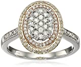 10k White and Pink and Yellow Gold Diamond Ring (1/2cttw, I-J Color, I2-I3 Clarity), Size 7