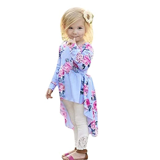 a8045c695a3b Amazon.com  KONFA Teen Toddler Baby Girls Floral Print Swallowtail ...