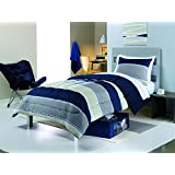 Keeco 8Pc simple by design dorm kit twin xl bed in bag set (stripe)