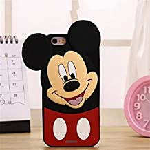 iPhone 6 Plus Case, Anya 3D Cute Lovely Cartoon Animal Soft Rubber Silicone Back Shell Case Cover for Apple iPhone 6 Plus 6S Plus 5.5inch Head Tilt Boy Mouse Black