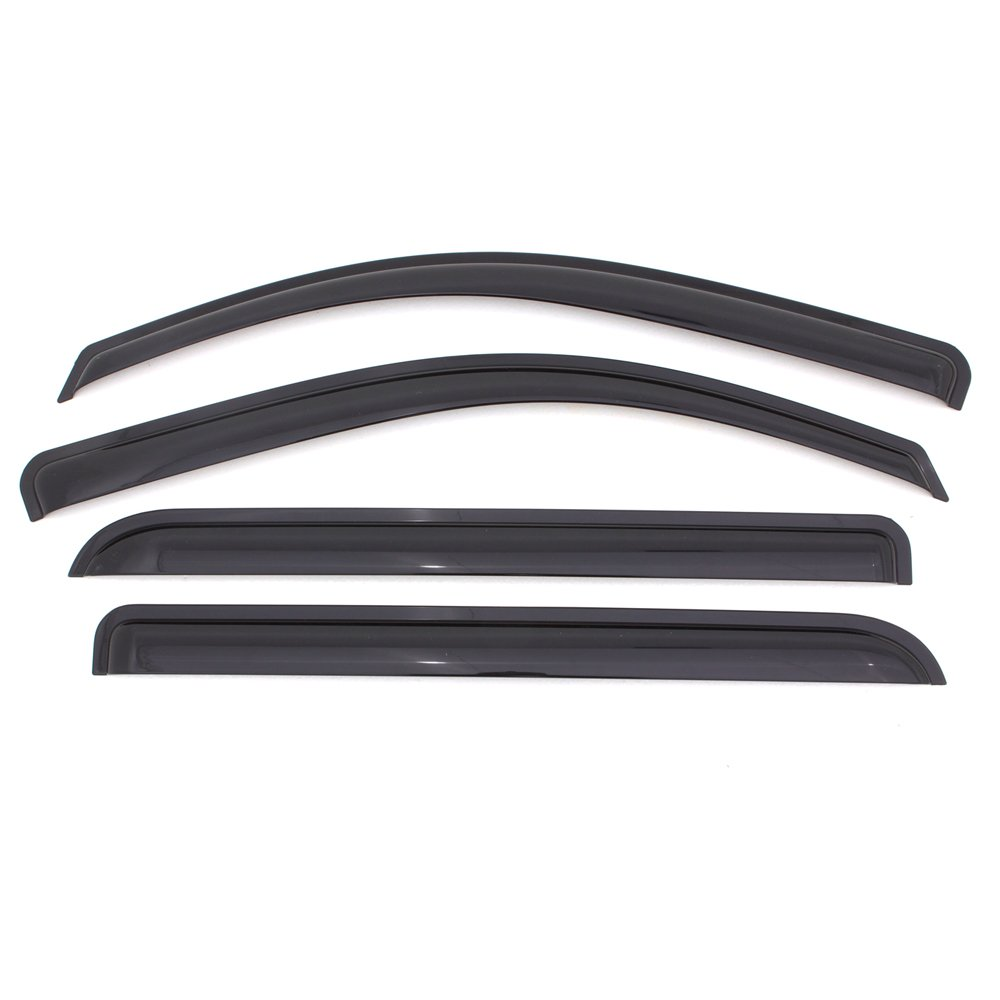 4-Piece Set for 2002-2007 Jeep Liberty Auto Ventshade 94428 Original Ventvisor Side Window Deflector Dark Smoke
