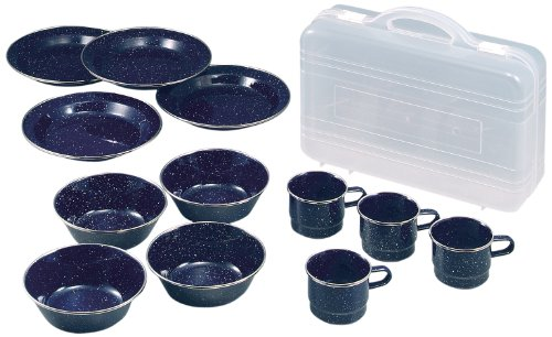 (CAPTAIN STAG) West enamel tableware set with Carrying Case M-1078 by Captain Stag
