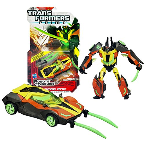 Hasbro Year 2011 Transformers Robots in Disguise Prime Series 1 Deluxe Class 6 Inch Tall Robot Figure #10 - Decepticon DEAD END with Double Swords (Vehicle Mode: Sports Car)
