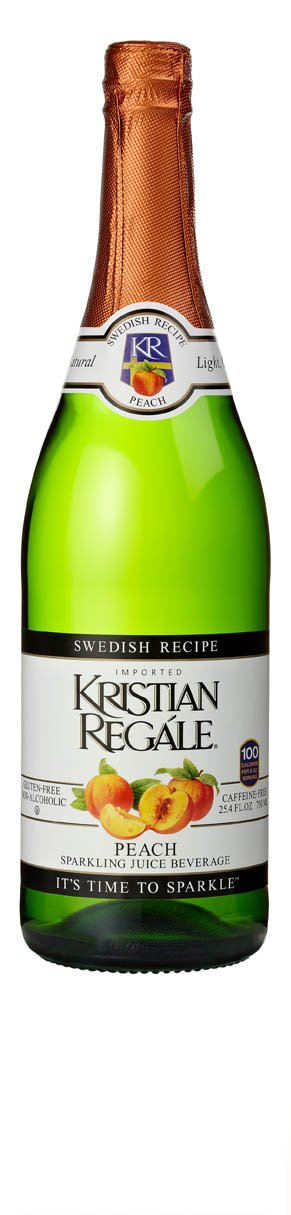 Kristian Regale Sparkling Peach Beverage, 25.4 Ounce Bottles (Pack of 4)