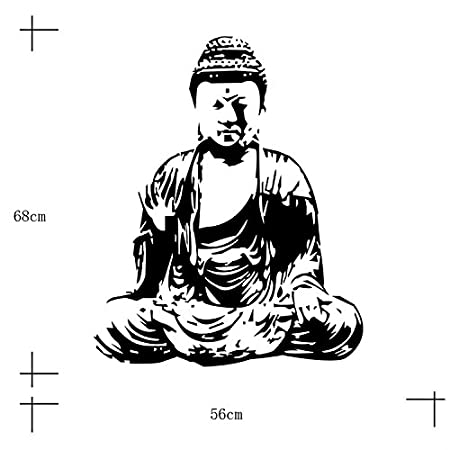 amazon yanqiao 26 77x22 05 removable indian religious buddha Grass Guru amazon yanqiao 26 77x22 05 removable indian religious buddha vinyl living room wall sticker decal home kitchen