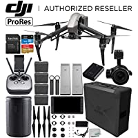 DJI Inspire 2 Quadcopter with Apple ProRes Licens with Zenmuse X5S Camera and Gimbal + CrystalSky 5.5' High-Brightness Monitor + DJI CINESSD (240GB) + CINESSD Station Handheld Ultimate Bundle